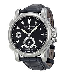Ulysse Nardin GMT Big Date Black Dial Stainless Steel Men's Watch 243-55-92