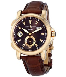 Ulysse Nardin GMT Big Date Brown Dial 18K Rose Gold Automatic Men's Watch 246-55-95