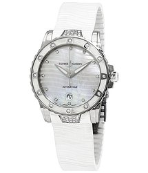 Ulysse Nardin Lady Diver Automatic Mother of Pearl Diamond Dial Ladies Watch