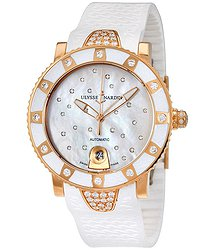 Ulysse Nardin Lady Marine Diver Starry Night Mother of Pearl Diamond 18K Rose Gold Automatic Ladies Watch