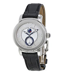 Ulysse Nardin Macho Palladium Silver Dial Blue Leather Men's Watch 278-70-609