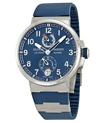 Ulysse Nardin Marine Automatic Blue Dial Blue Rubber Men's Watch 1183-126-3-63
