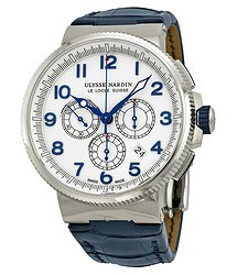 Ulysse Nardin Marine Chronograph White Dial Automatic Men's Watch 1503-150-60