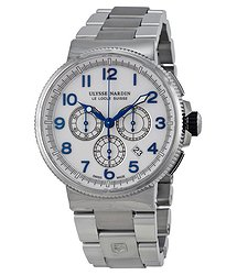 Ulysse Nardin Marine Chronograph White Dial Stainless Steel Men's Watch 1503-150-7M-60