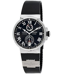 Ulysse Nardin Marine Chronometer Automatic Black Dial Black Rubber Men's Watch