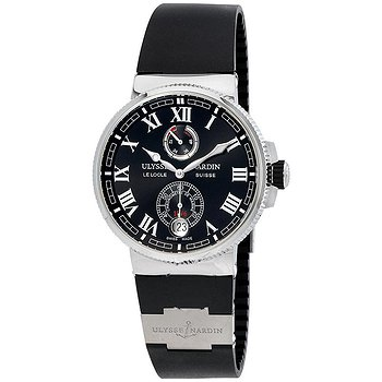 Купить часы Ulysse Nardin Marine Chronometer Automatic Black Dial Black Rubber Men's Watch  в ломбарде швейцарских часов