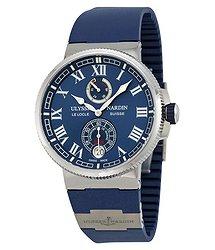 Ulysse Nardin Marine Chronometer Automatic Blue Dial Blue Rubber Men's Watch