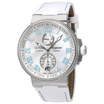 Купить часы Ulysse Nardin Marine Chronometer Manufacture White MOP Dial Diamonds Automatic Ladies Watch  в ломбарде швейцарских часов