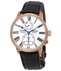 Ulysse Nardin Marine Chronometer Torpilleur Automatic White Dial Men's Watch