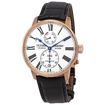 Купить часы Ulysse Nardin Marine Chronometer Torpilleur Automatic White Dial Men's Watch  в ломбарде швейцарских часов