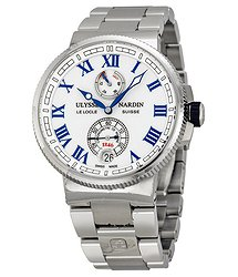 Ulysse Nardin Marine Chronometer White Dial Stainless Steel Men's Watch 1183-126-7M-40