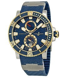 Ulysse Nardin Marine Diver Blue Dial Titanium and 18kt Yellow Gold Men's Watch