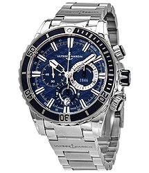 Ulysse Nardin Marine Diver Blue Wave Dial Chronograph Automatic Men's Watch