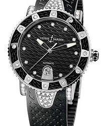 Ulysse Nardin Marine Diver Starry night stainless steel ladies watch 8103-101EC-3C/12