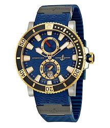 Ulysse Nardin Marine Diver Titanium Automatic Rose Gold Men's Watch 265-90-3C/93