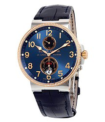 Ulysse Nardin Maxi Marine Automatic Blue Dial Diamond Stainless Steel and 18kt Rose Gold Men's Watch