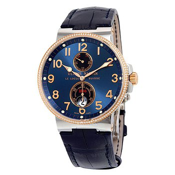 Купить часы Ulysse Nardin Maxi Marine Automatic Blue Dial Diamond Stainless Steel and 18kt Rose Gold Men's Watch  в ломбарде швейцарских часов