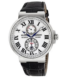 Ulysse Nardin Maxi Marine Automatic White Dial Stainless Steel Men's Watch 263-67-40