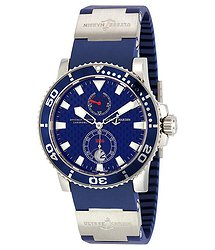 Ulysse Nardin Maxi Marine Blue Dial Rubber / White Gold Men's Watch