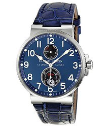 Ulysse Nardin Maxi Marine Chronometer Blue Dial Leather Men's Watch