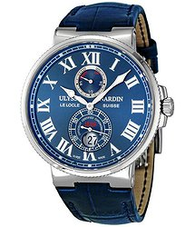 Ulysse Nardin Maxi Marine Chronometer Blue Leather Men's Watch 263-67/43