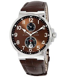 Ulysse Nardin Maxi Marine Chronometer Brown Dial Leather Automatic Men's Watch