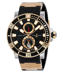 Ulysse Nardin Maxi Marine Diver Black Dial 18K Rose Gold Men's Watch 265-90-3-92