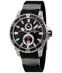Ulysse Nardin Maxi Marine Diver Black Dial Automatic Men's Rubber Watch