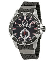 Ulysse Nardin Maxi Marine Diver Black Dial Black Rubber Men's Watch 263-10-3-92