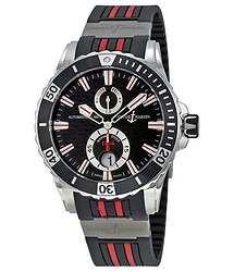 Ulysse Nardin Maxi Marine Diver Black Dial Black Rubber Men's Watch 63-10-3R-92