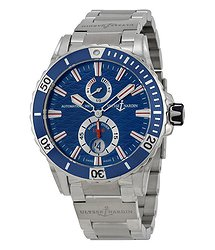 Ulysse Nardin Maxi Marine Diver Blue Dial Stainless Steel Men's Watch 263-10-7M-93