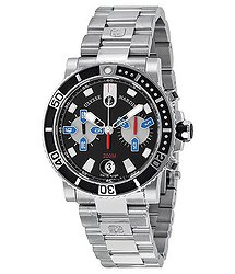 Ulysse Nardin Maxi Marine Diver Chronograph Black Dial Stainless Steel Men's Watch 8003-102-7-92