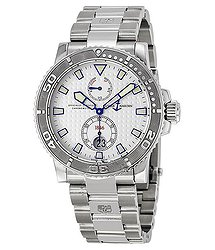 Ulysse Nardin Maxi Marine Diver Chronometer Automatic Silver Dial Stainless Steel Men's Watch