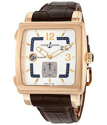 Ulysse Nardin Quadrato Dual Time 18kt Rose Gold Men's Watch
