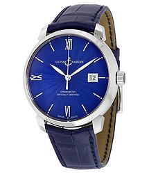 Ulysse Nardin San Marco Classico Blue Dial Automatic Men's Watch 8153-111-2-E3