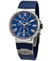 Ulysse Nardin Ulysse Nardin Marine Chronometer Annual Calander Automatic Blue Dial Men's Watch 1133-210-3/E3