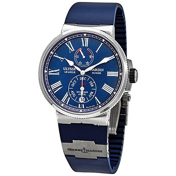 Купить часы Ulysse Nardin Ulysse Nardin Marine Chronometer Annual Calander Automatic Blue Dial Men's Watch 1133-210-3/E3  в ломбарде швейцарских часов