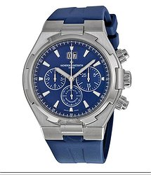 Vacheron Constantin Overseas Chronograph Blue Dial Blue Rubber Men's Watch 49150000A-9745