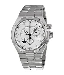 Vacheron Constantin Overseas Dual Time Automatic Silver Dial Stainless Steel Men's Watch