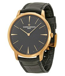 Vacheron Constantin Patrimony Grey Dial 18k Pink Gold Manual Men's Watch 81180000R-9162