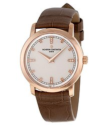 Vacheron Constantin Traditionnelle Silver Dial 18K Rose Gold Ladies Watch