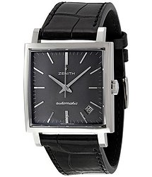 Zenith Black Dial Black Leather Vintage 1965 Men's Watch