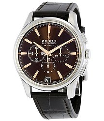 Zenith Captain Chronograph Brown Dial Brown Alligator Leather Men's Watch