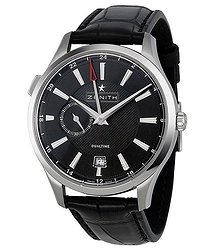 Zenith Captain Dual Time Black Dial Automatic Men's Watch