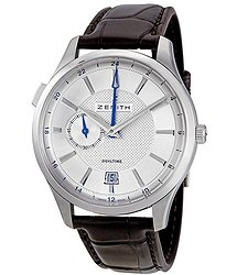 Zenith Captain Dual Time Silver Dial Automatic Men's Watch 03213068202C498