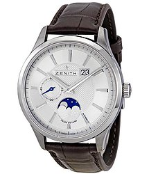 Zenith Captain Moonphase Automatic Silver Dial Men's Watch 03214069102C498