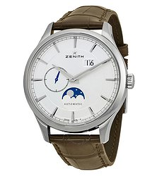 Zenith Captain Moonphase Silver Dial Automatic Men's Watch