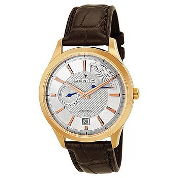 Купить часы Zenith Captain Power Reserve Silver Dial 18kt Rose Gold Black Leather Men's Watch 18212068502C498  в ломбарде швейцарских часов