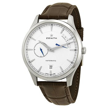 Купить часы Zenith Captain Power Reserve Silver Dial Brown Alligator Leather Men's Watch  в ломбарде швейцарских часов