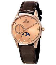 Zenith Captain Ultra Thin Lady Moonphase 18kt Rose Gold Ladies Watch 18231069295C498
